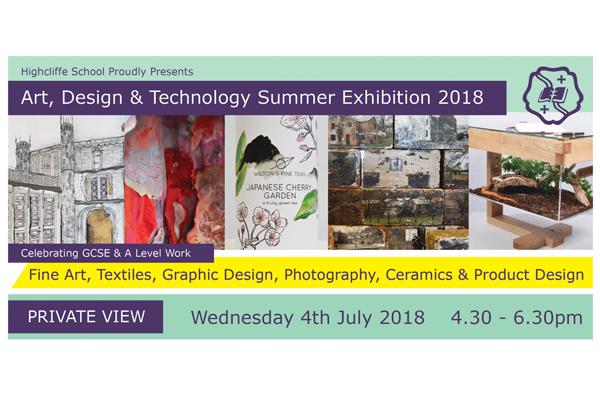 Art, Design and Technology Summer Exhibition 2018