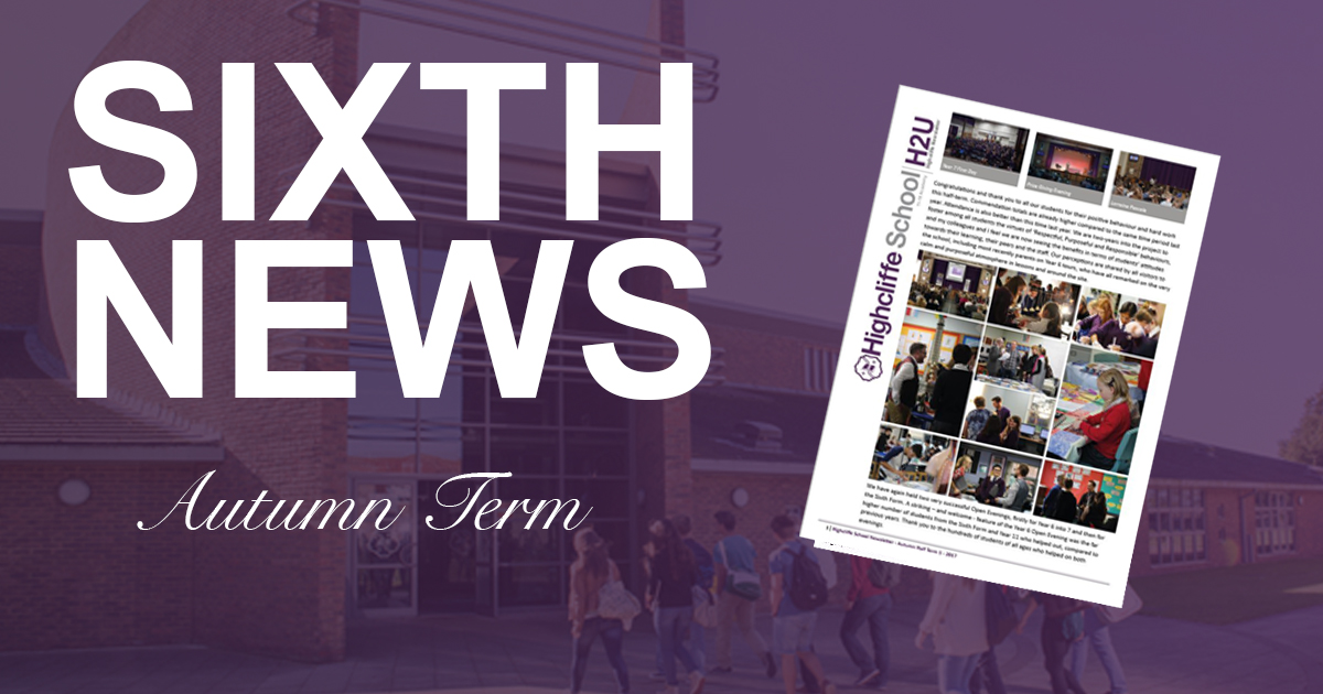 Sixth Newsletter Autumn Term