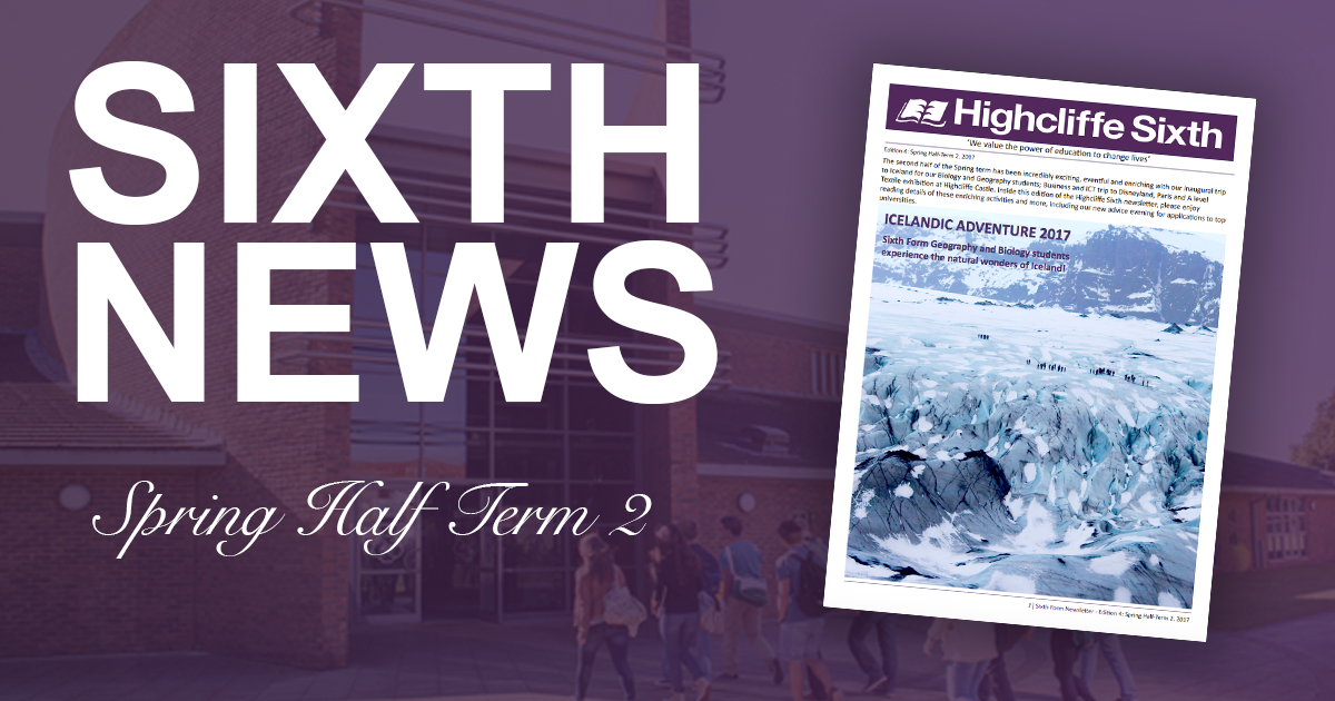 Spring Half Term Sixth Newsletter